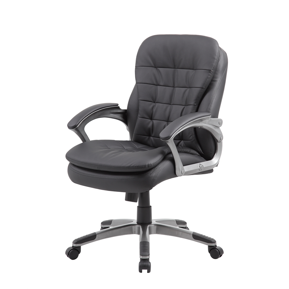 Boss Executive Mid Back Pillow Top Chair. Picture 5