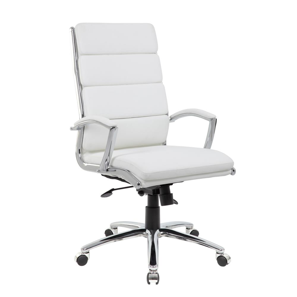 Boss Executive CaressoftPlus™ Chair with Metal Chrome Finish. Picture 6