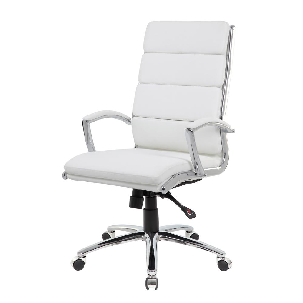Boss Executive CaressoftPlus™ Chair with Metal Chrome Finish. Picture 3