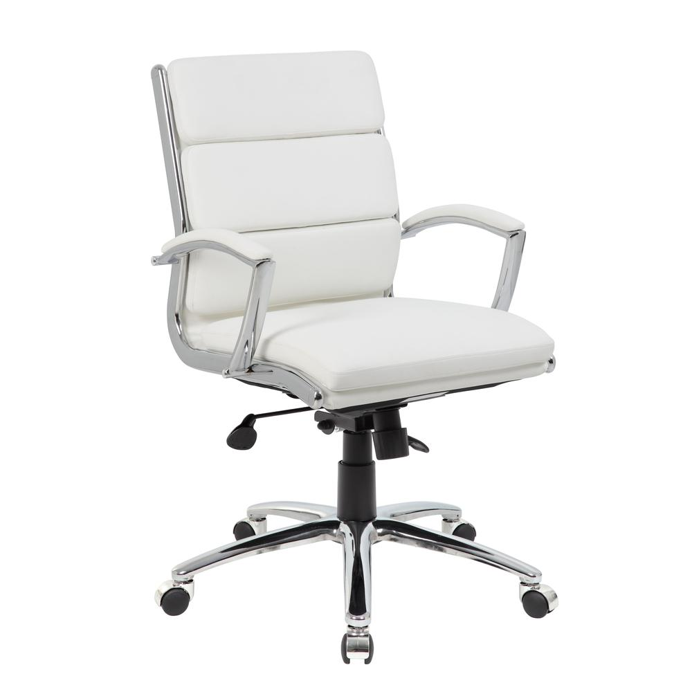 Boss Executive CaressoftPlus™ Chair with Metal Chrome Finish - Mid Back. Picture 6