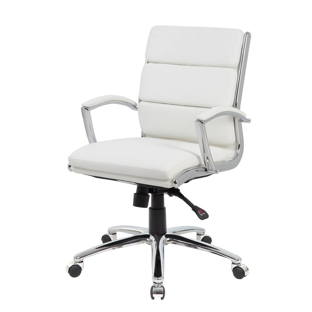 Boss Executive CaressoftPlus™ Chair with Metal Chrome Finish - Mid Back. Picture 1