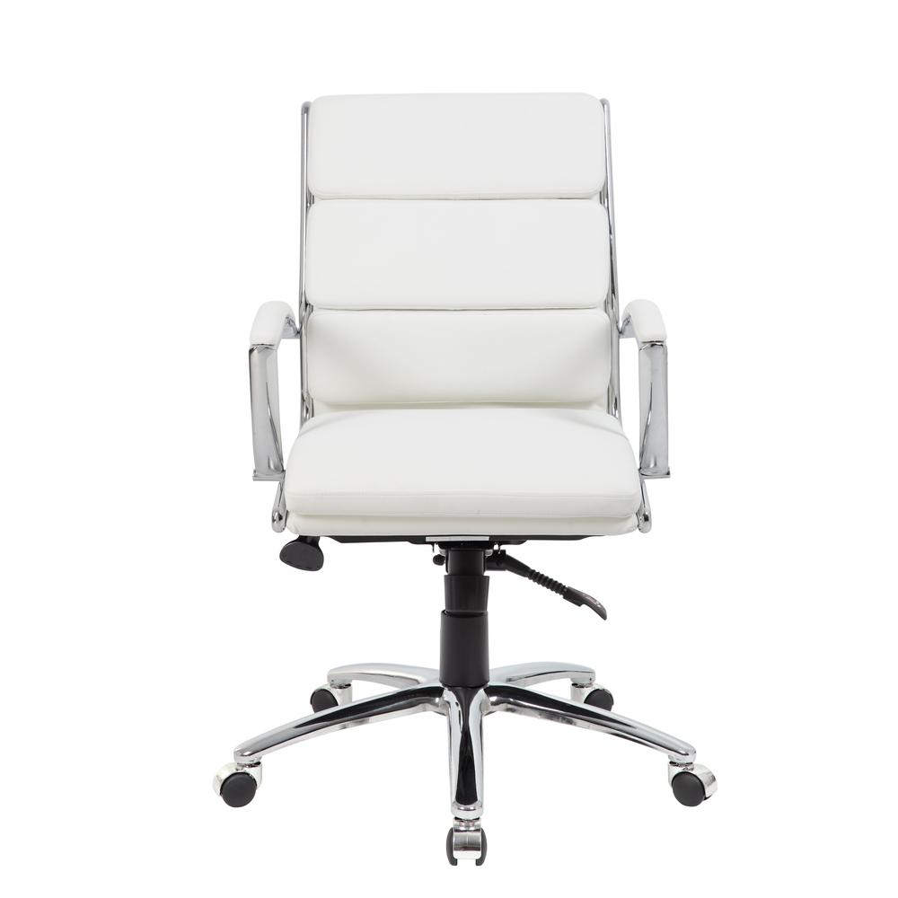 Boss Executive CaressoftPlus™ Chair with Metal Chrome Finish - Mid Back. Picture 2