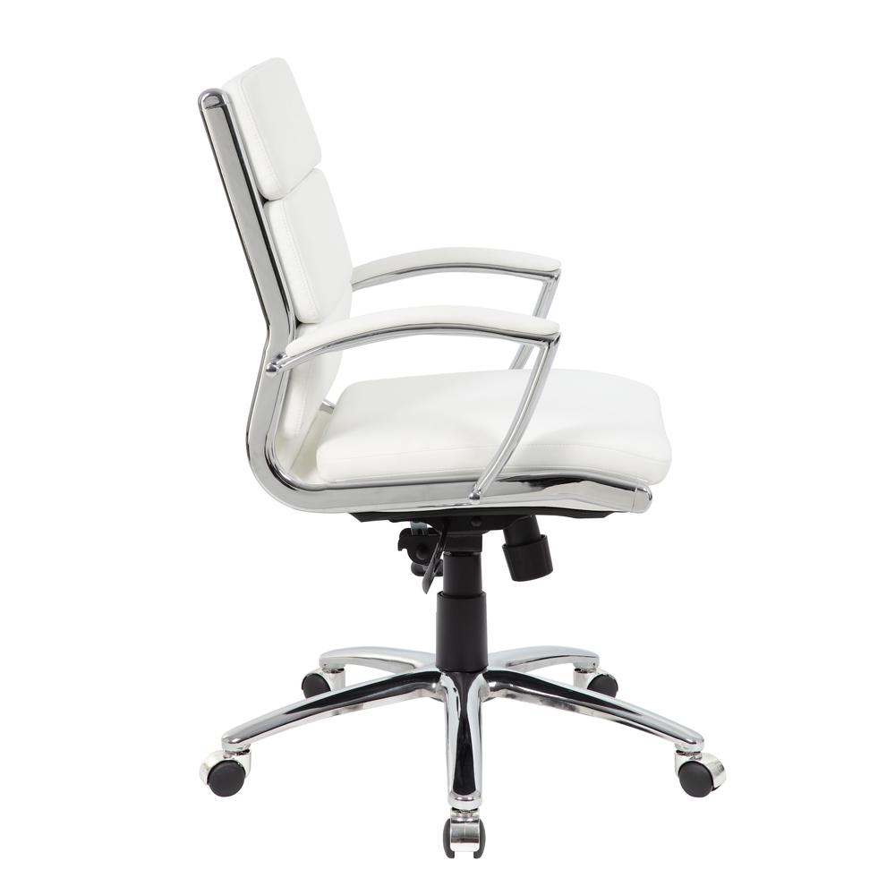 Boss Executive CaressoftPlus™ Chair with Metal Chrome Finish - Mid Back. Picture 3