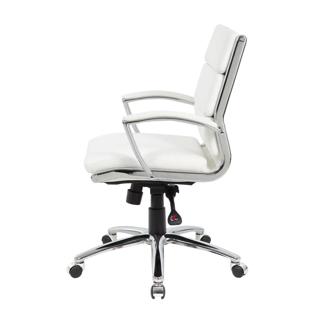 Boss Executive CaressoftPlus™ Chair with Metal Chrome Finish - Mid Back. Picture 5