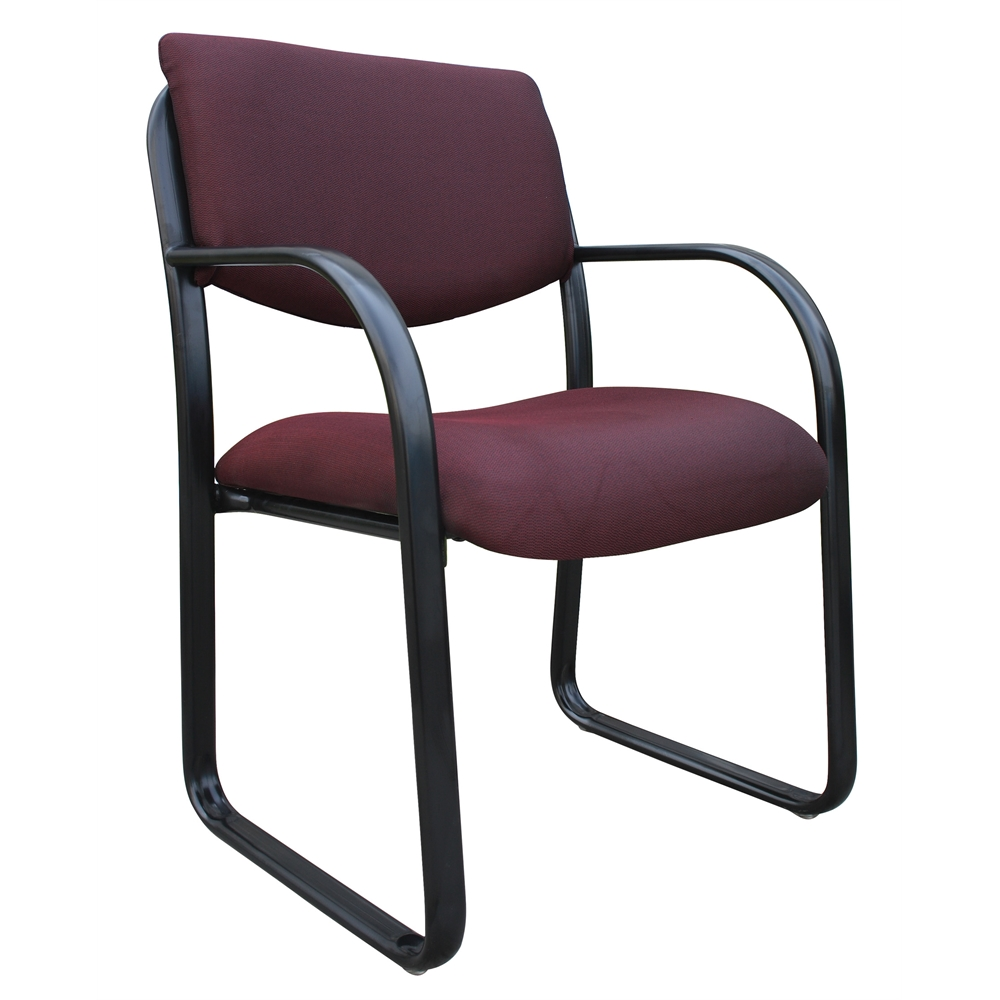 Boss Burgundy Fabric Guest Chair. Picture 1
