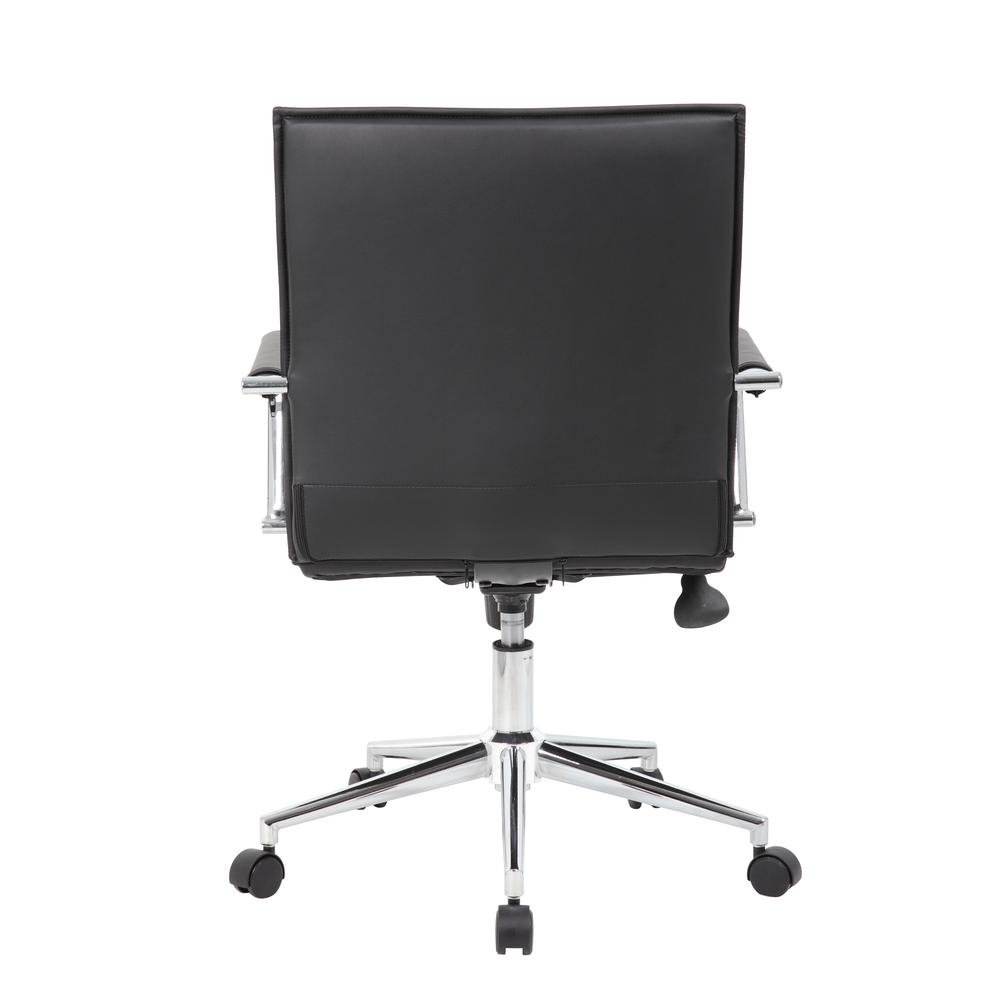 Boss Black Vinyl Hospitality Chair. Picture 4