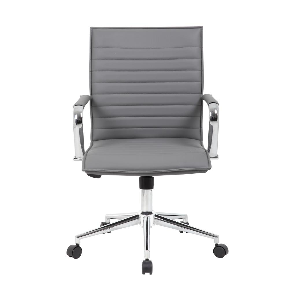 Boss Grey Vinyl Hospitality Chair. Picture 2