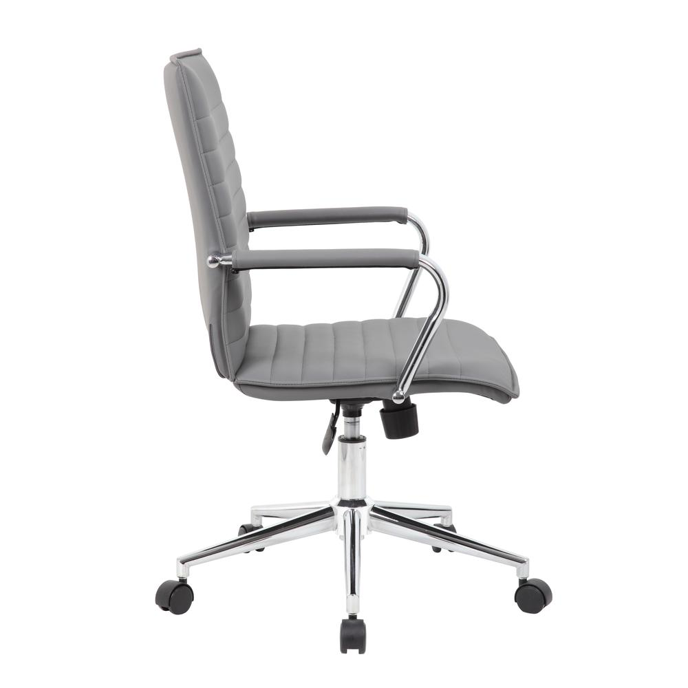 Boss Grey Vinyl Hospitality Chair. Picture 3