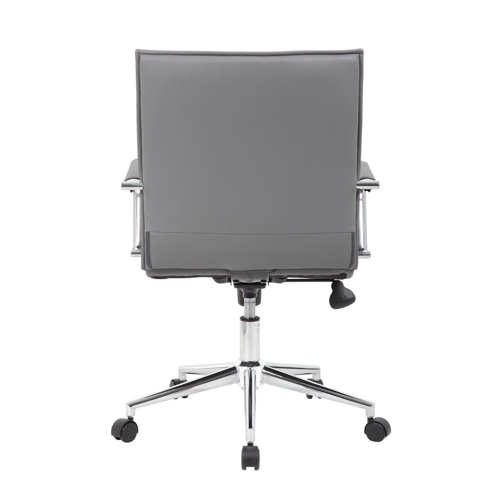 Boss Grey Vinyl Hospitality Chair. Picture 4