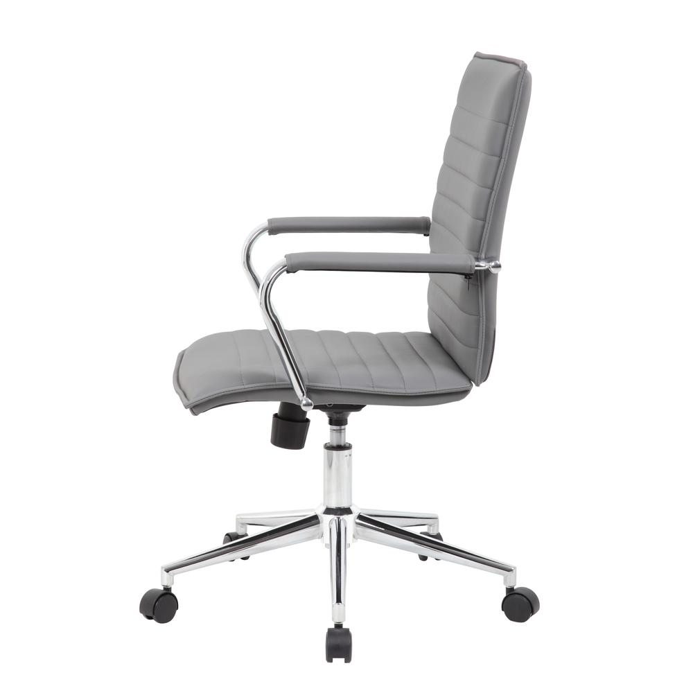 Boss Grey Vinyl Hospitality Chair. Picture 5