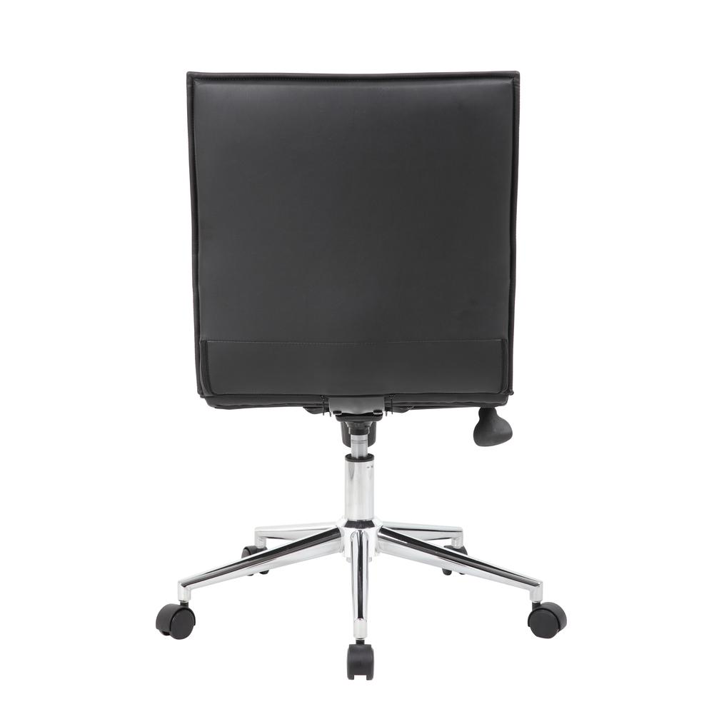 Boss Black Vinyl Armless Hospitality Chair. Picture 4