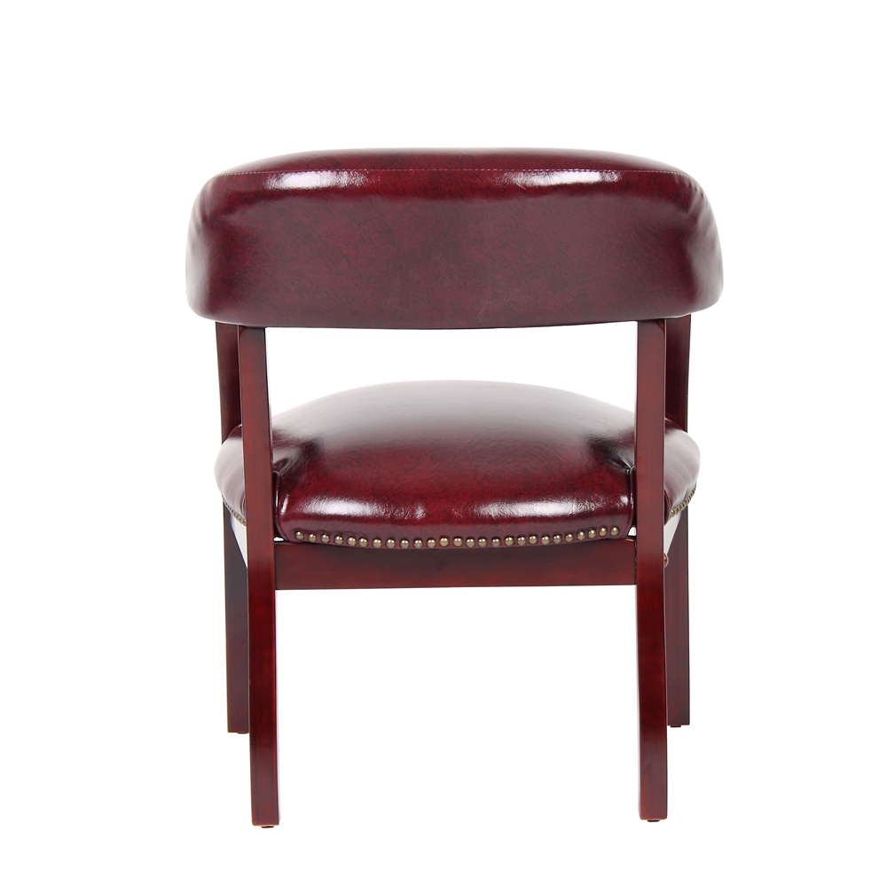 Boss Captain's Chair In Burgundy Vinyl. Picture 2