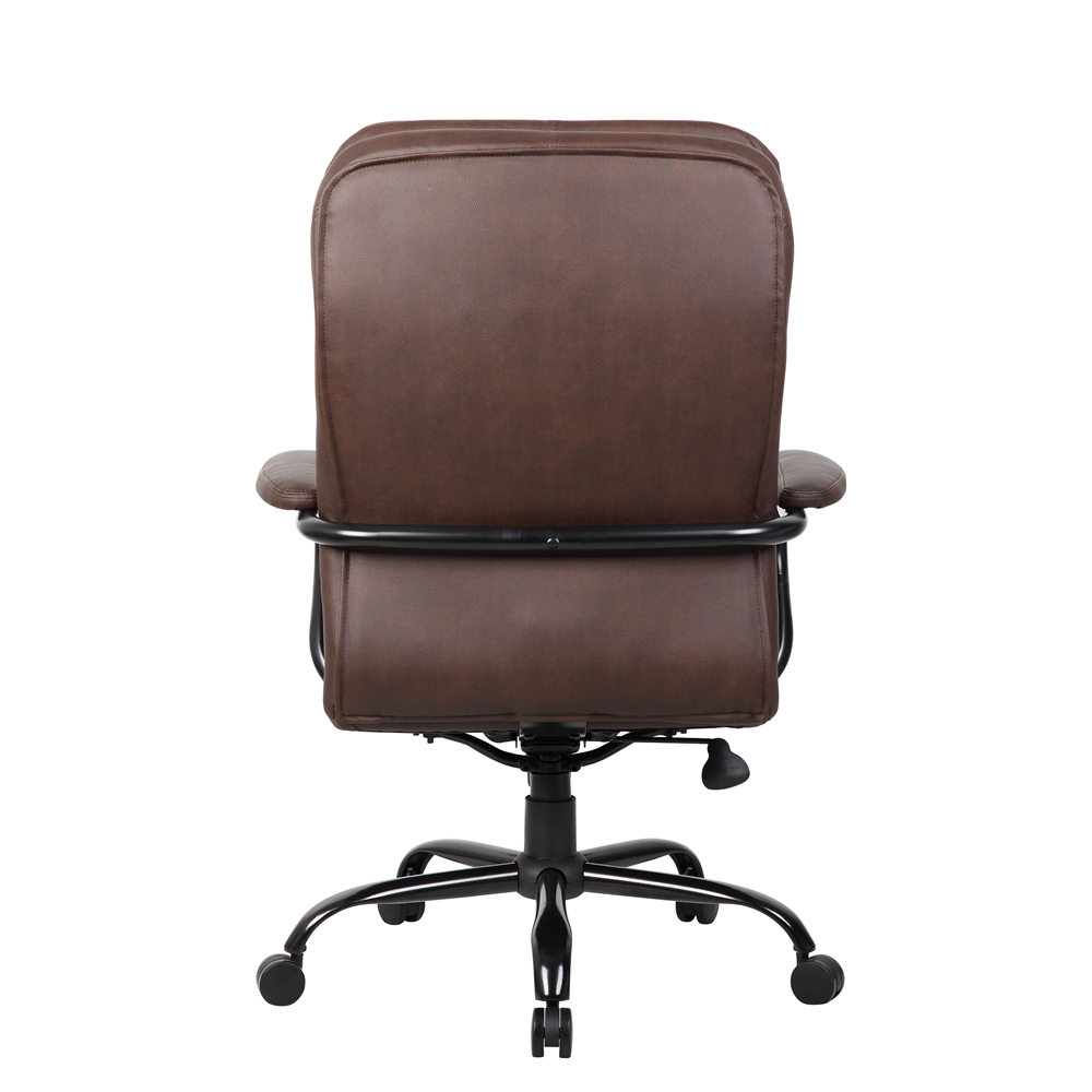 Boss Heavy Duty Double Plush Leatherplus Chair 350 Lbs