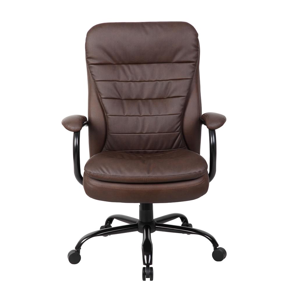 Boss Heavy Duty Double Plush Leatherplus Chair 350 Lbs