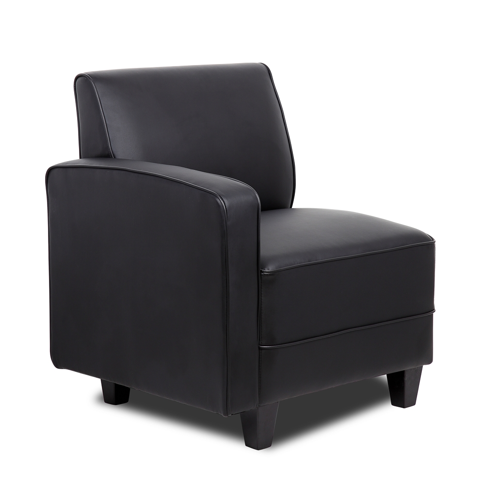 Boss Black Sectional Sofa Right Arm