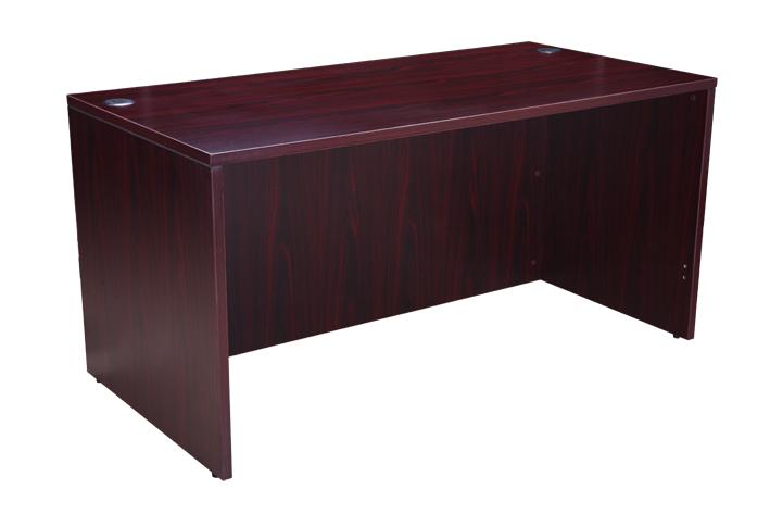 "Boss Desk Shell, 66""W X 30""D, Mahogany. Picture 3"