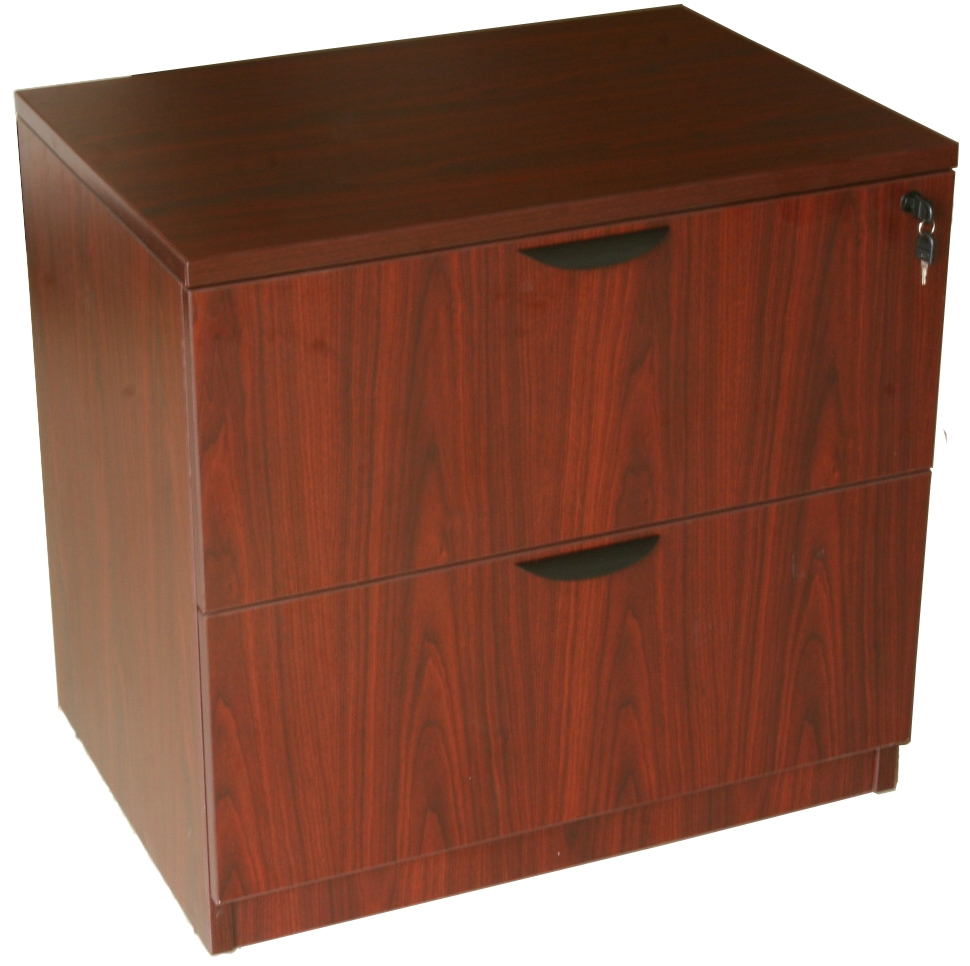 Boss 2-Drawer Lateral File, Mahogany. Picture 3