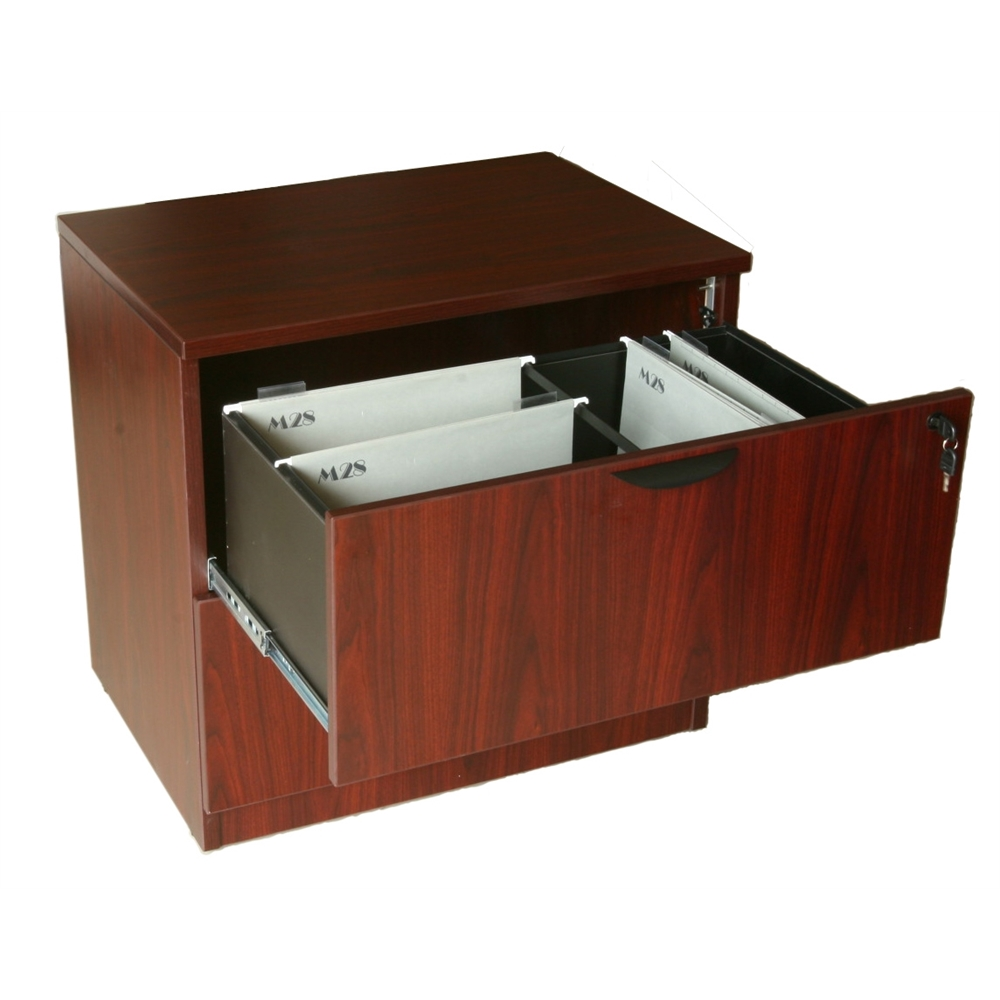 Boss 2-Drawer Lateral File, Mahogany. Picture 2