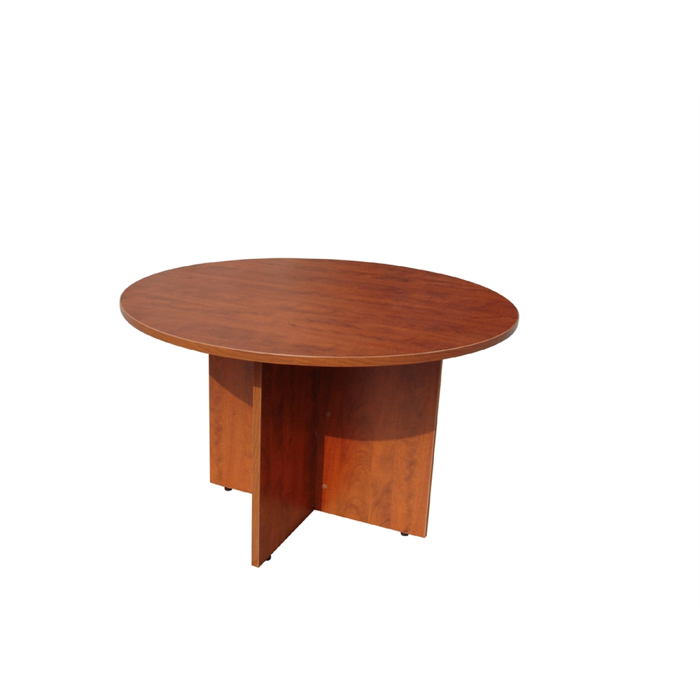 "Boss 42"" Round Table, Cherry. Picture 1"