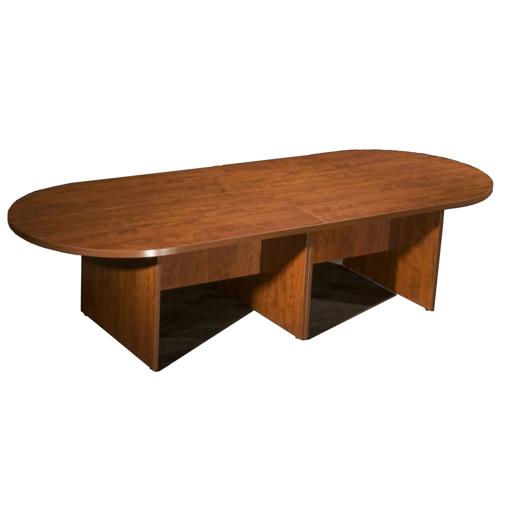 Boss 10Ft Race Track Conference Table - Cherry. Picture 1