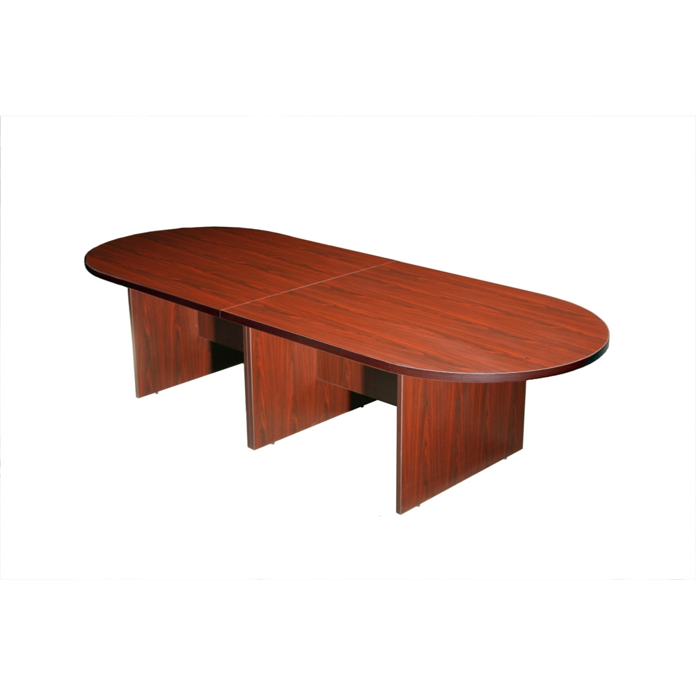 Boss 10Ft Race Track Conference Table - Mahogany. Picture 1