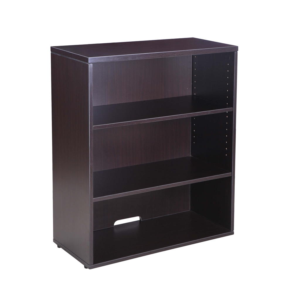 Boss Open Hutch Bookcase Mocha