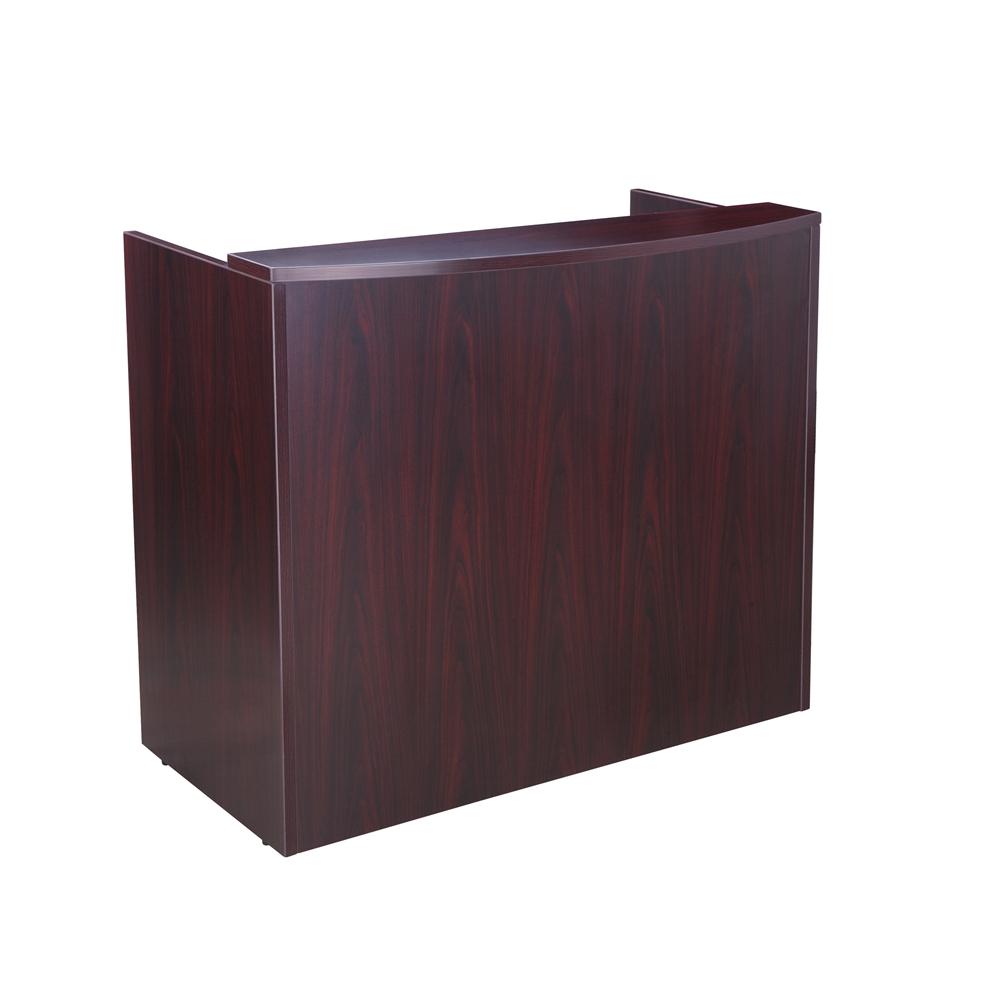 Glazed Reception Desk, 48Wx26Dx41.5H Mahogany. Picture 1