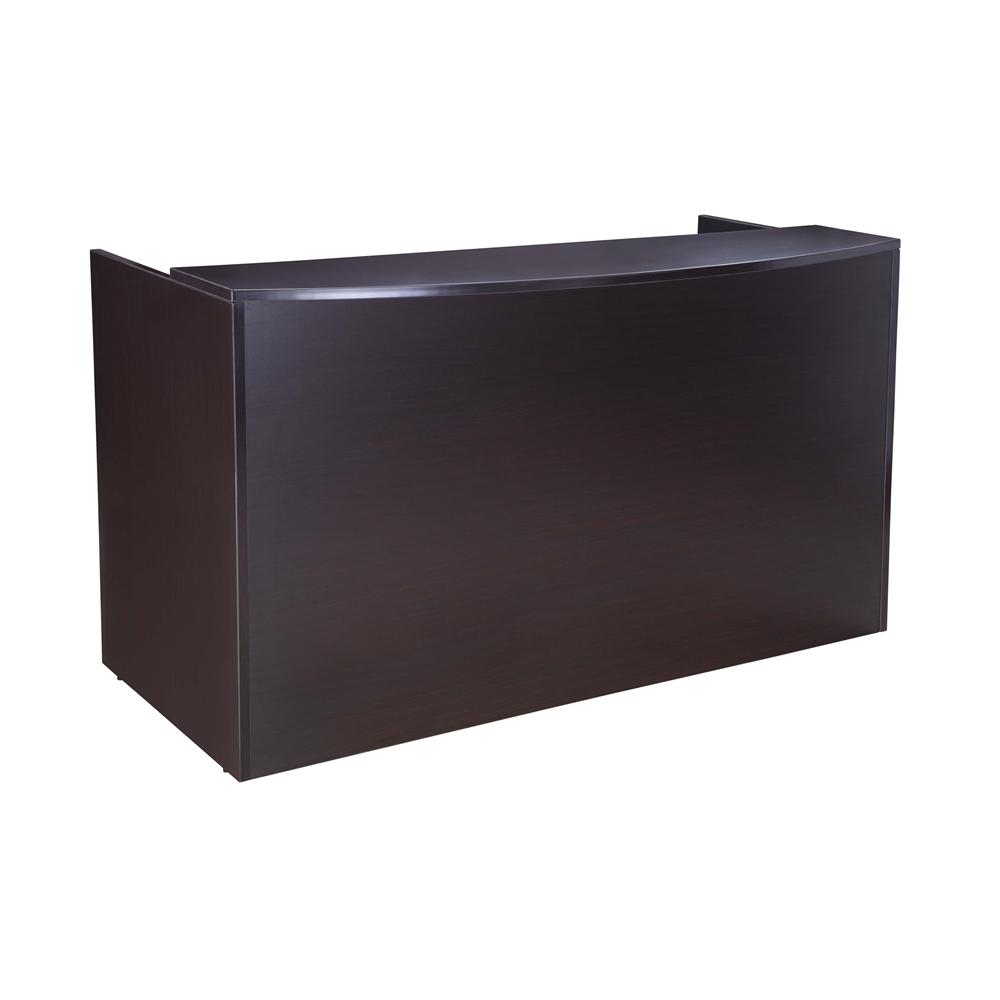 Boss Reception Desk, 71W X 30/36D X 42H, Mahogany. Picture 1