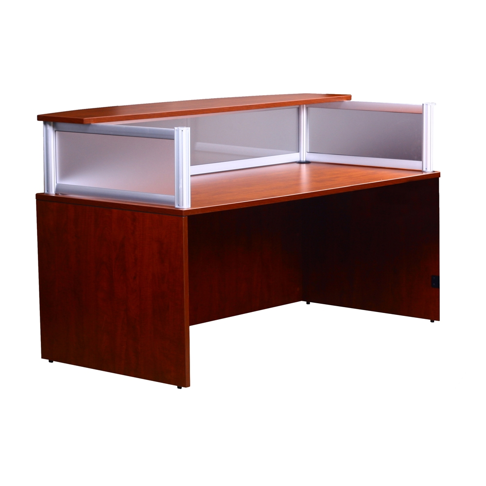 Plexiglass Reception Desk Cherry