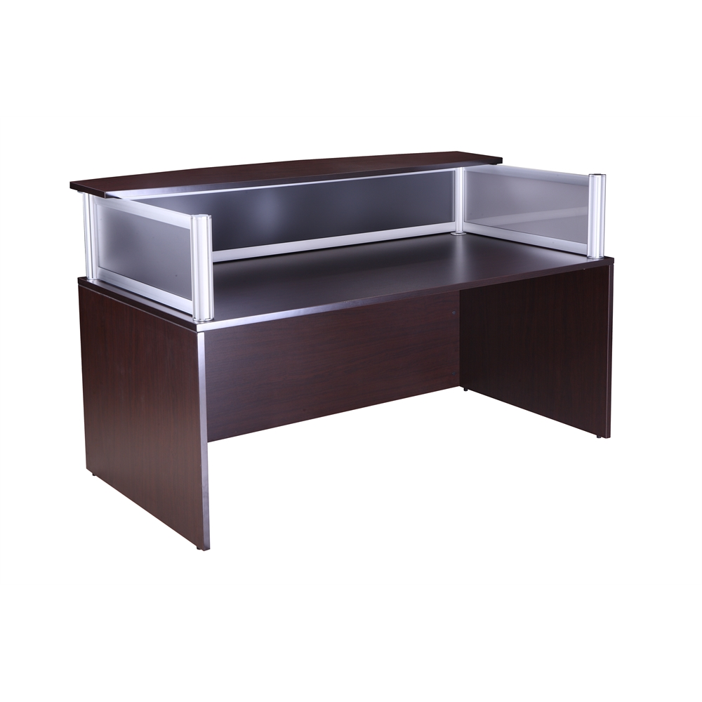Plexiglass Reception Desk, Mocha. Picture 1