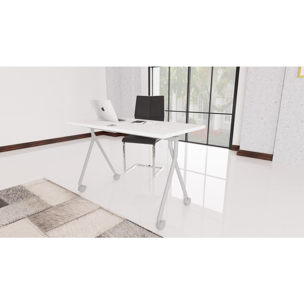"""36"""" Folding Table, White. Picture 5"""