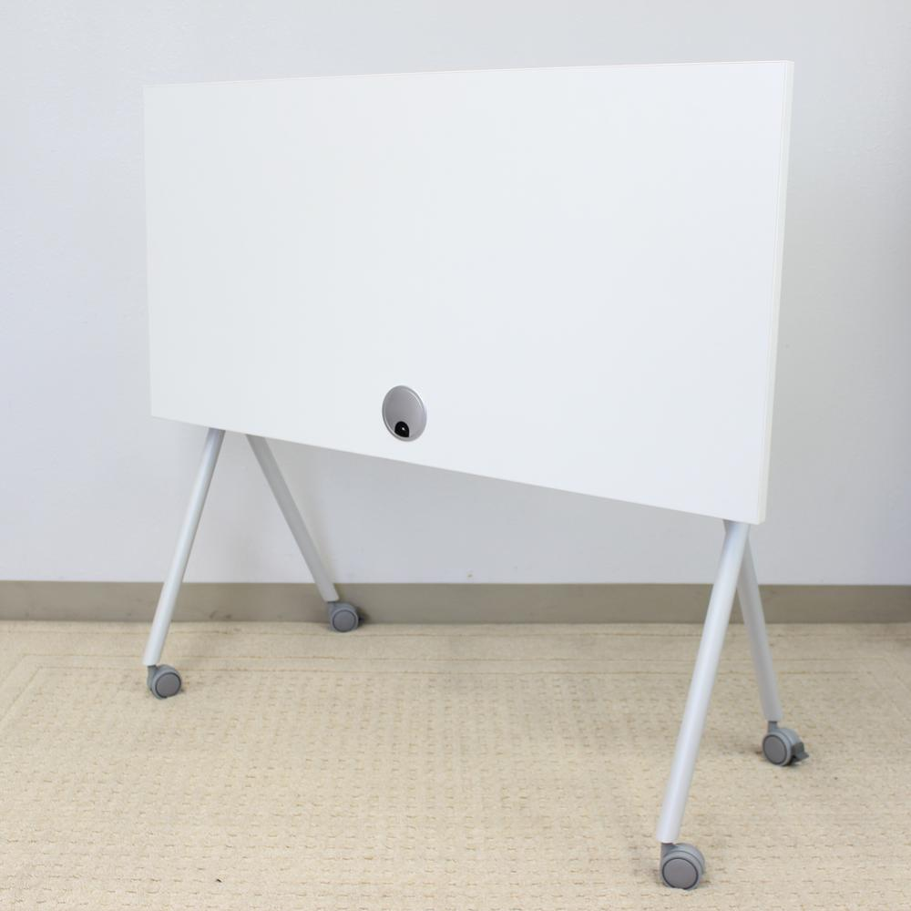 """36"""" Folding Table, White. Picture 3"""