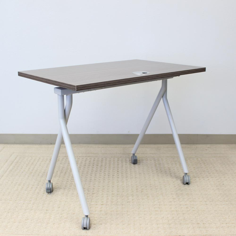 """48"""" Folding Table, Driftwood. Picture 1"""