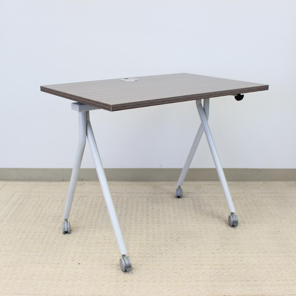 """48"""" Folding Table, Driftwood. Picture 3"""