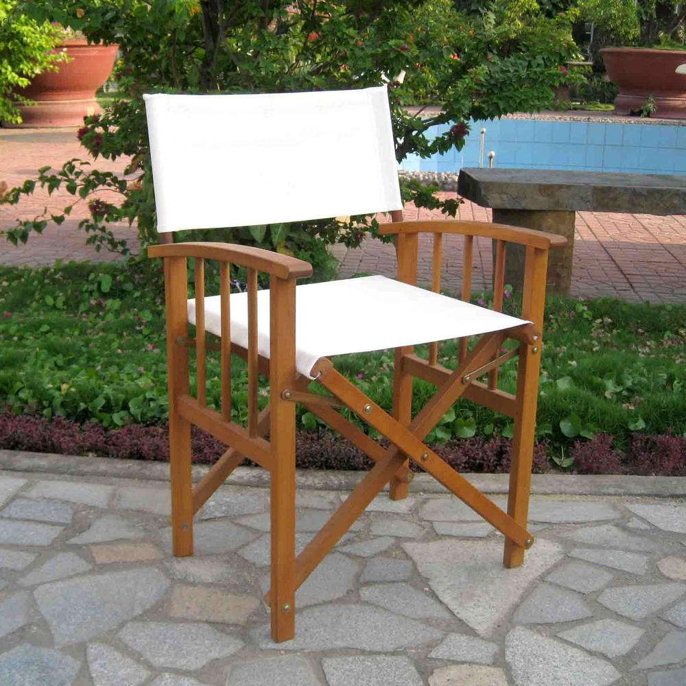 Set of Two Directors Chair with Mission Style Arms. Picture 1