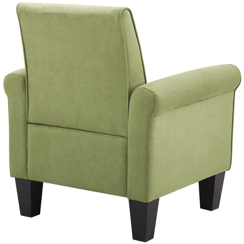 Angelo Green Microfiber Fabric Armchair. Picture 3