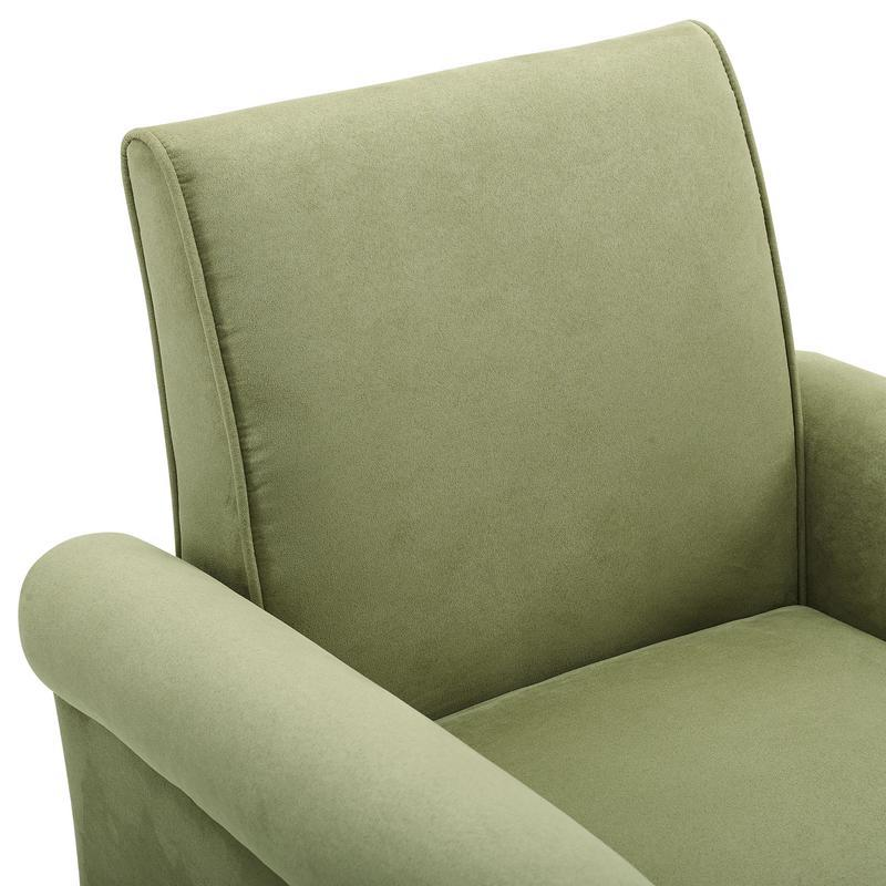 Angelo Green Microfiber Fabric Armchair. Picture 4