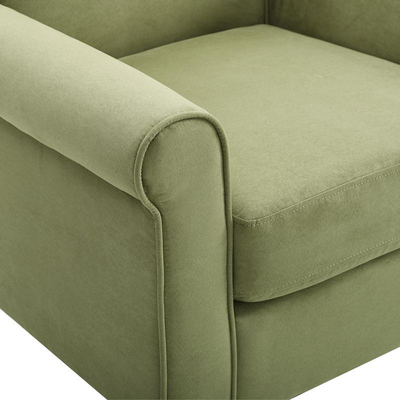 Angelo Green Microfiber Fabric Armchair. Picture 5