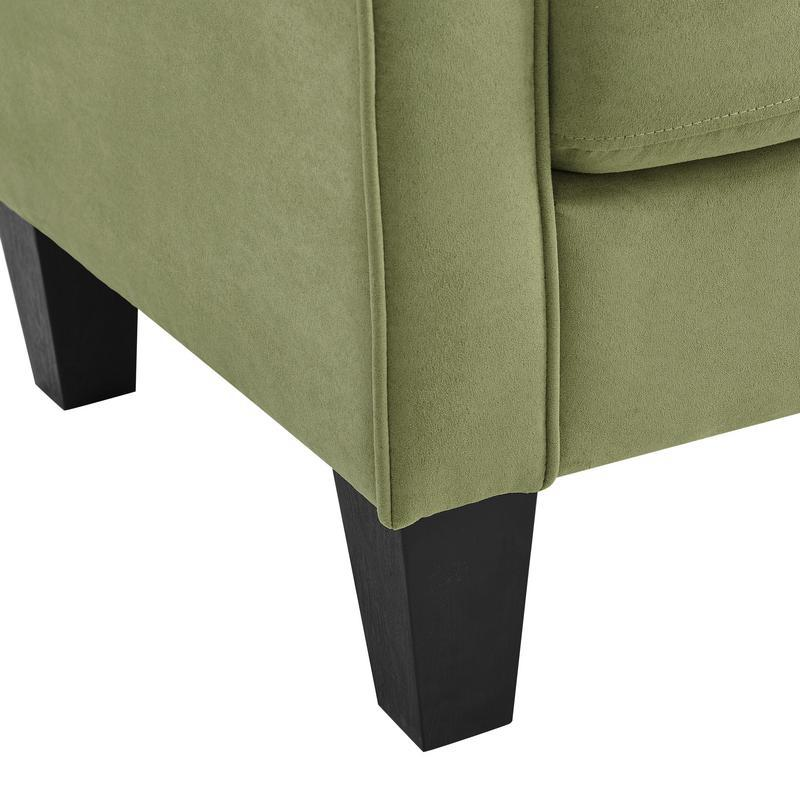 Angelo Green Microfiber Fabric Armchair. Picture 6