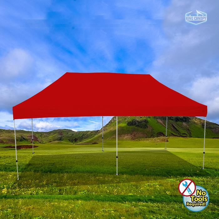 ATHENA 10X20 WHITE FRAME Instant Pop Up Tent w/ RED Cover. Picture 1
