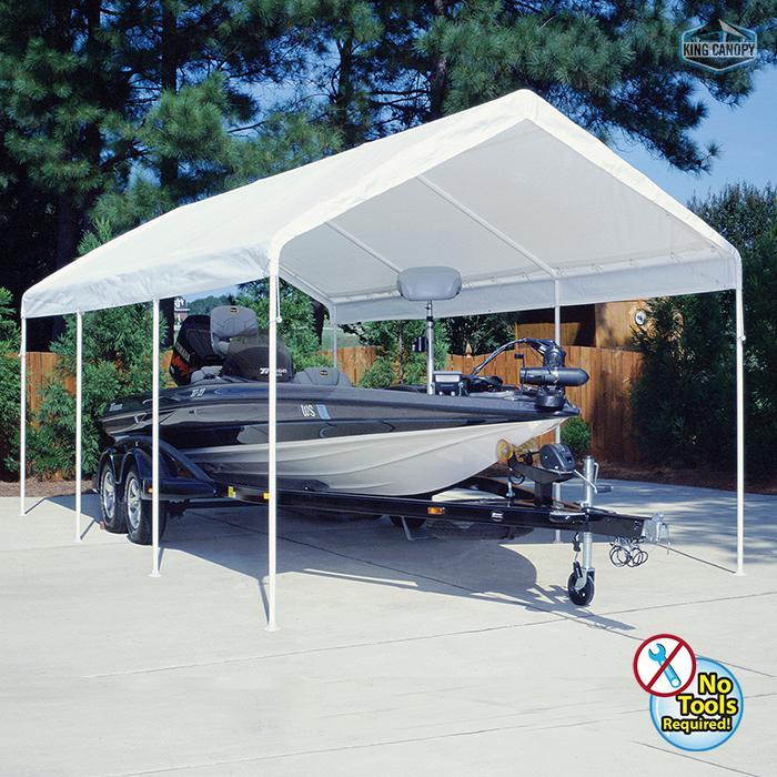 Universal 8 Leg 12X20 Canopy w/ WHITE Cover