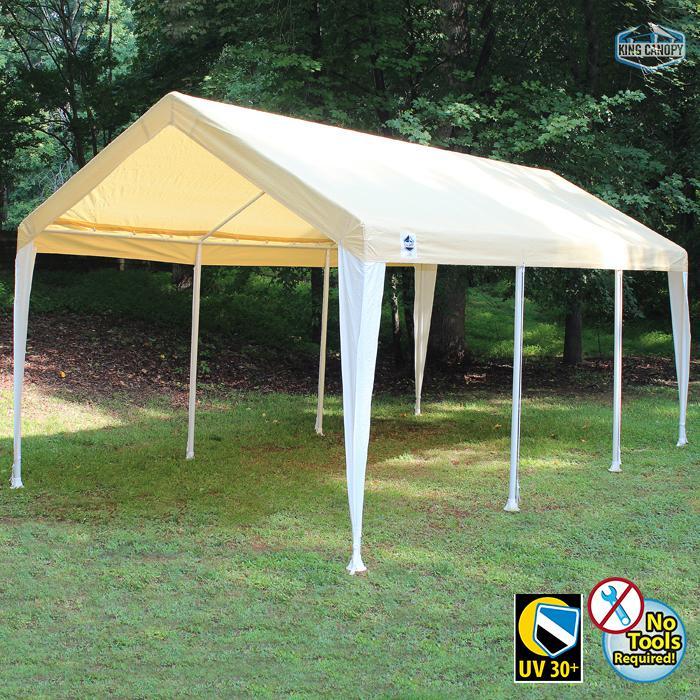 HERCULES 10X20 Canopy w/ TAN/WHITE Cover