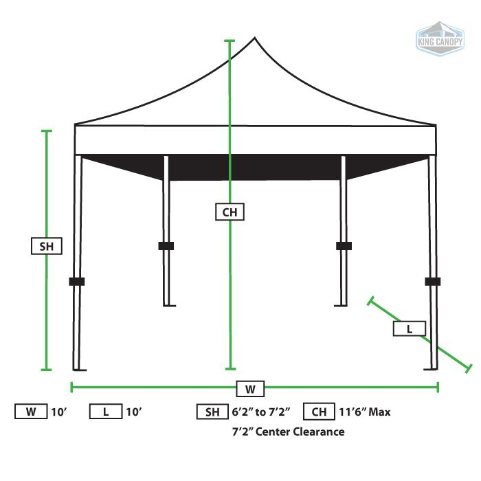 TUFF TENT WHITE Frame 10X10 Instant Pop Up Tent w/ BLACK Cover