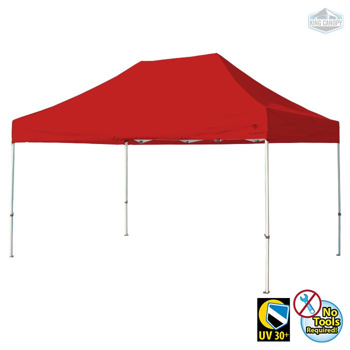 TUFF TENT WHITE Frame 10X15 Instant Pop Up Tent w/ RED Cover. Picture 1