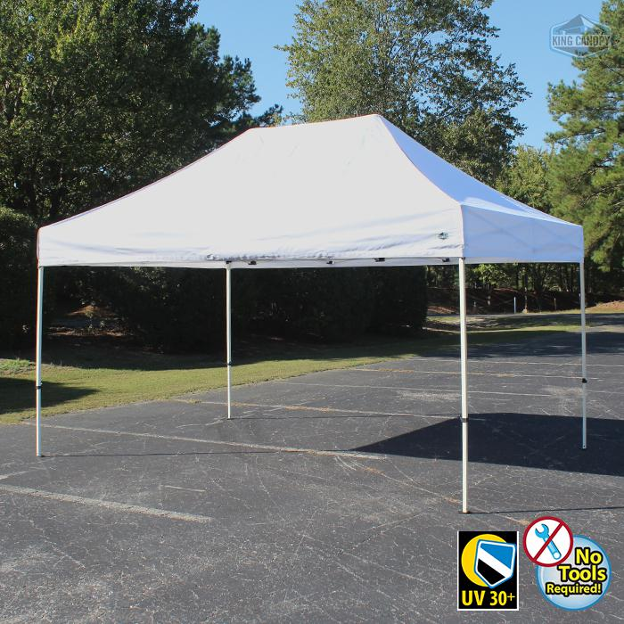 TUFF TENT WHITE Frame 10X15 Instant Pop Up Tent w/ WHITE Cover