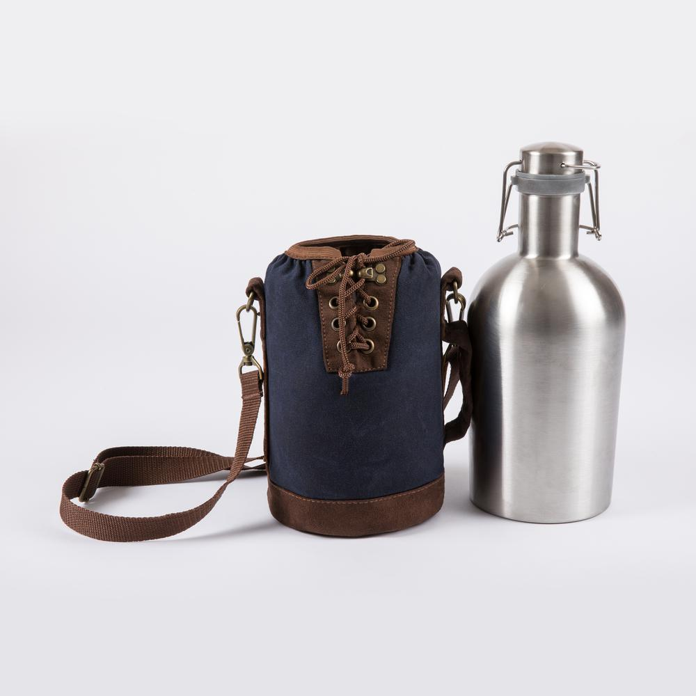 Insulated Growler Tote With 64 Oz Stainless Steel Growler