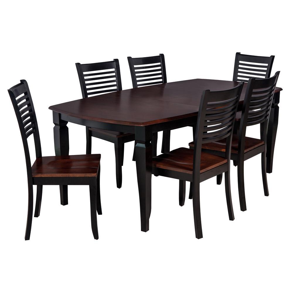 """7-Piece Solid Wood Dining Set """"Victoria"""", Modern Kitchen ..."""