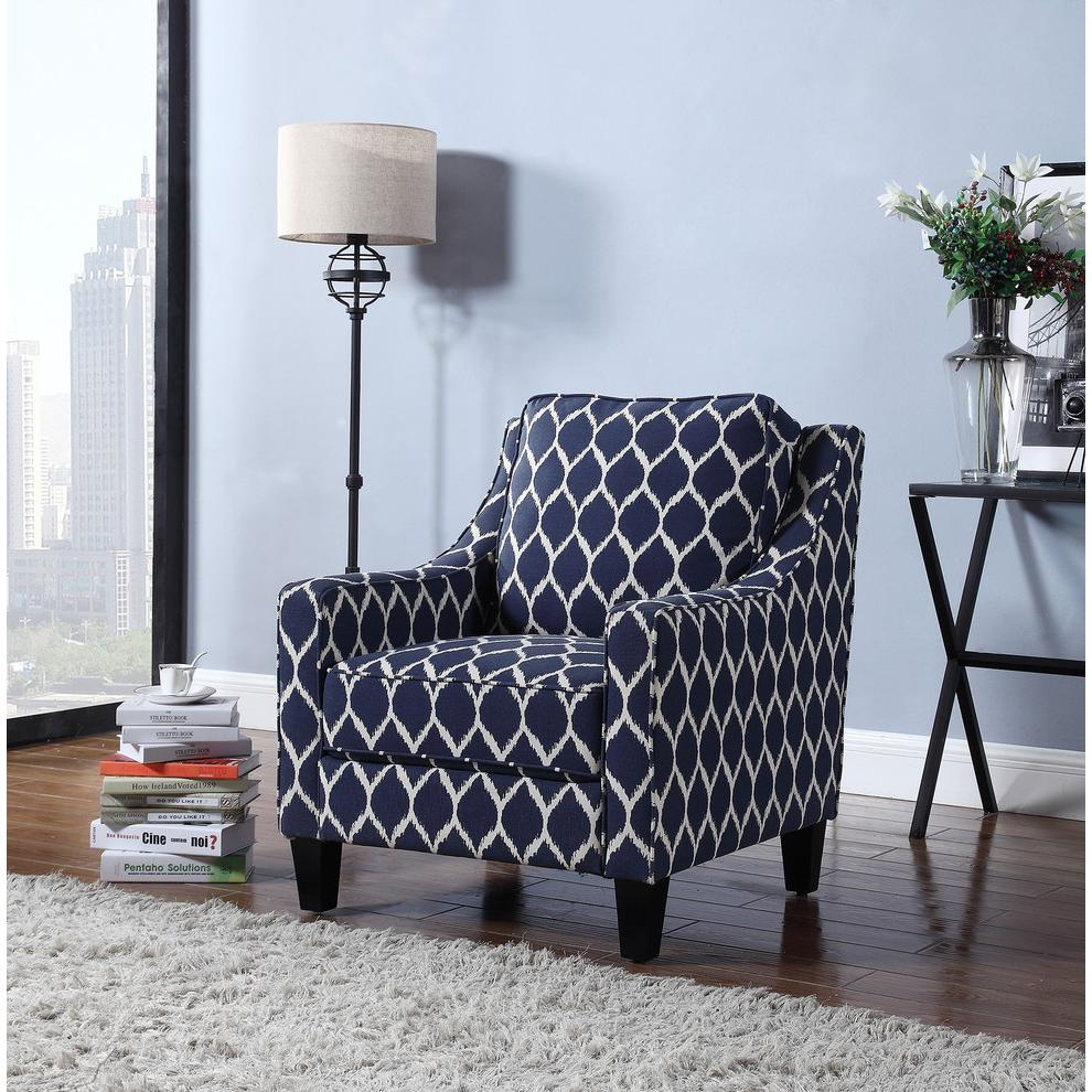 Tori Upholstered Fabric Living Room Arm Chair. Picture 2