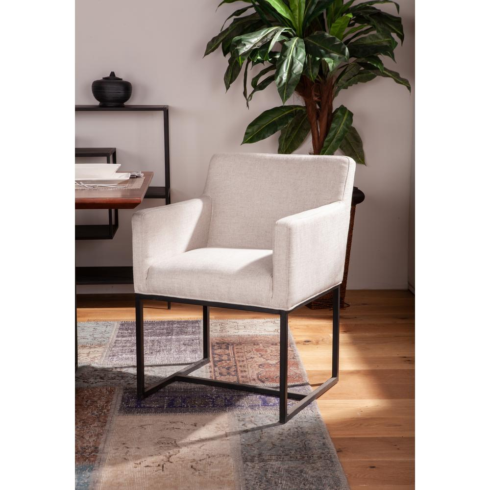 Rebel Off-White Linen Armchair. Picture 1