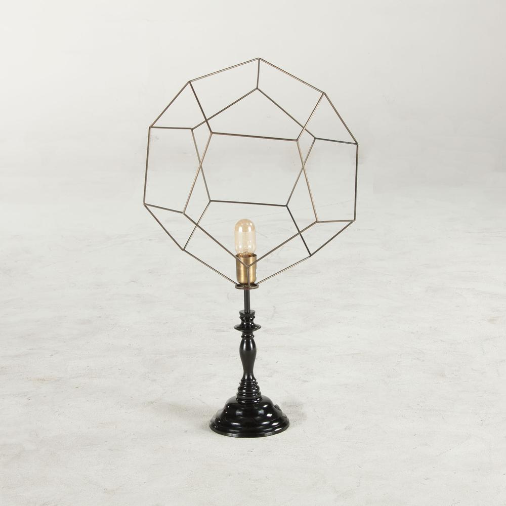 Nikola Geometric Vintage Table Lamp